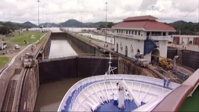 Kryds Panama Kanalen